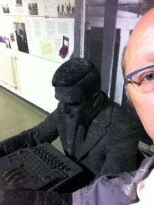 Selfie with Alan at Bletchley Park, 2012